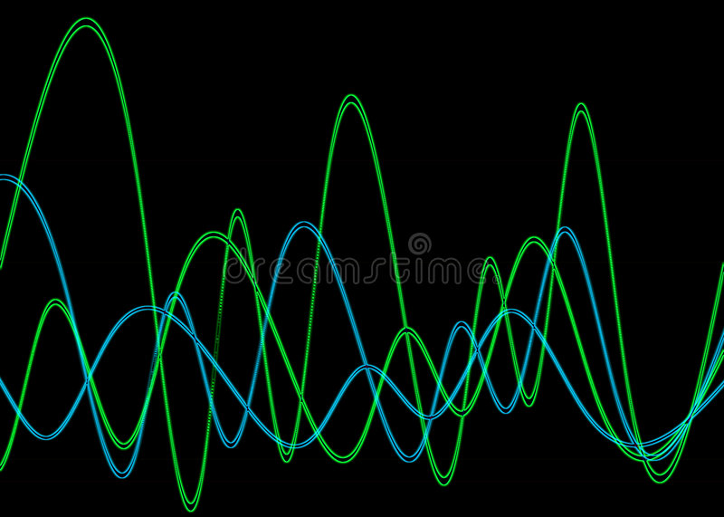Waveform 2. This is a waveform graphic vector illustration