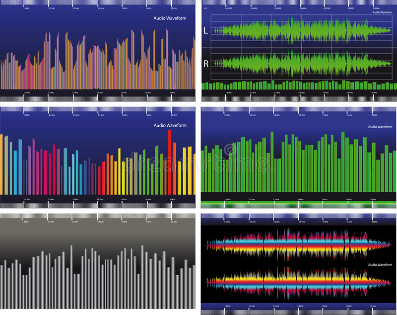 Waveform. The vector illustration - audio Waveform royalty free illustration