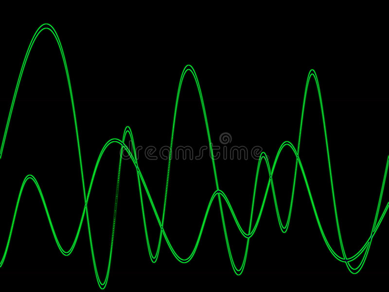 Waveform. This is a waveform graphic stock illustration