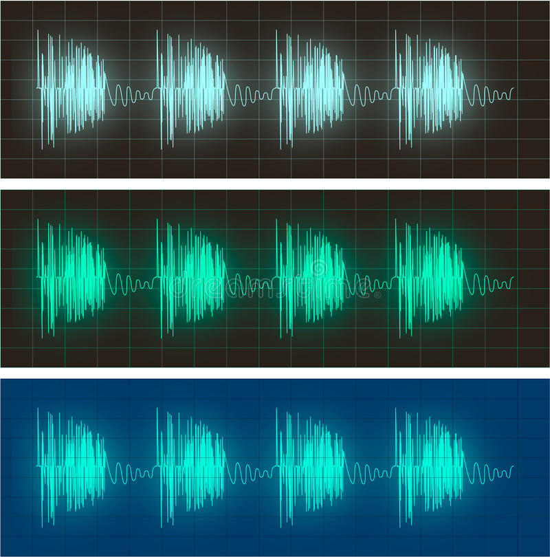 Free Waveform Display Of Electric Signals Royalty Free Stock Photos - 12735728