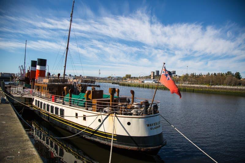 Waverley al Clydeside, Glasgow, Scozia, Regno Unito fotografia stock libera da diritti