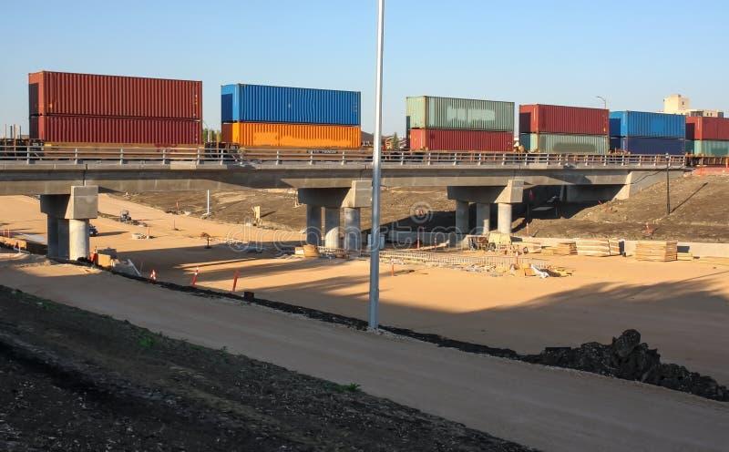 Waverley przejścia podziemnego Uliczna budowa Czerwiec 2019 obrazy stock