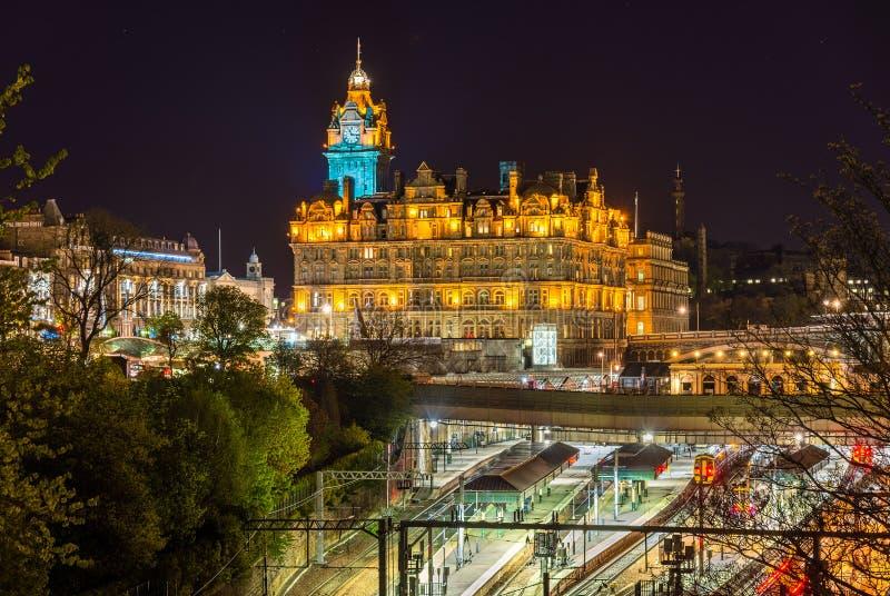 Waverley stacja kolejowa w Edynburg fotografia royalty free