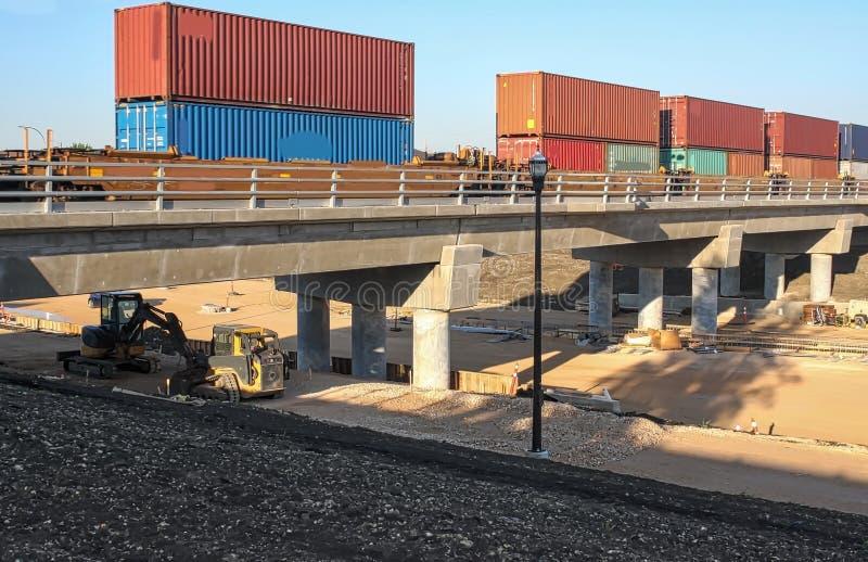 Waverley-Straßen-Unterführungs-Bau im Juni 2019 stockfotografie