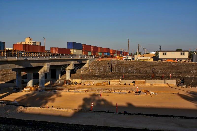 Waverley-Straßen-Unterführungs-Bau im Juni 2019 lizenzfreie stockfotos