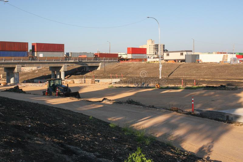 Waverley-Straßen-Unterführungs-Bau im Juni 2019 stockfotos