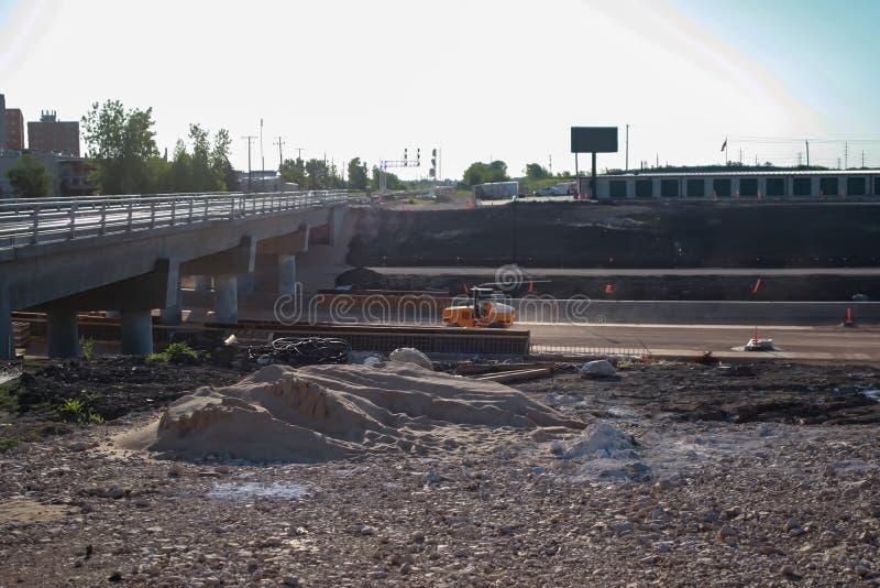 Waverley Street Underpass Construction June 2019. Winnipeg manitoba  canada. Looking east royalty free stock images