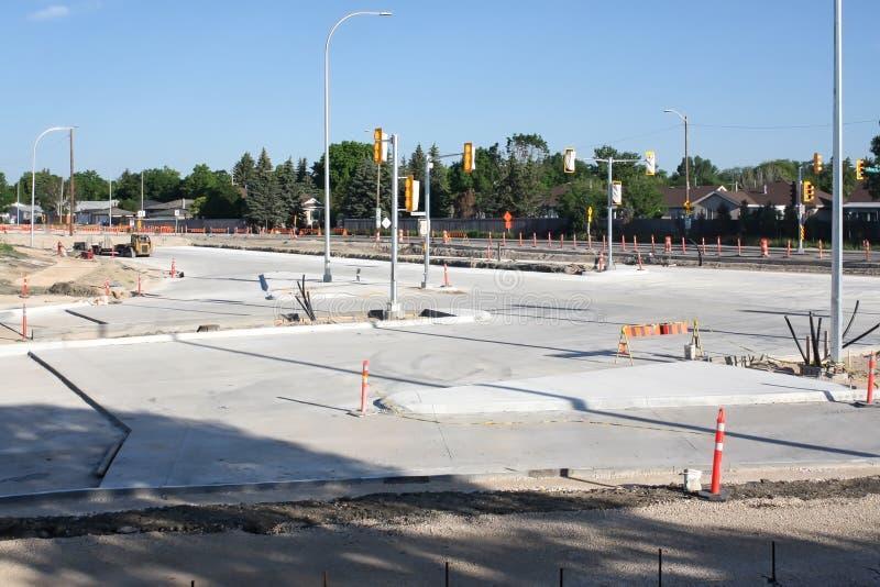 Waverley Street Underpass Construction June 2019. Winnipeg manitoba  canada. Looking north on to waverley street.Early morning royalty free stock photos