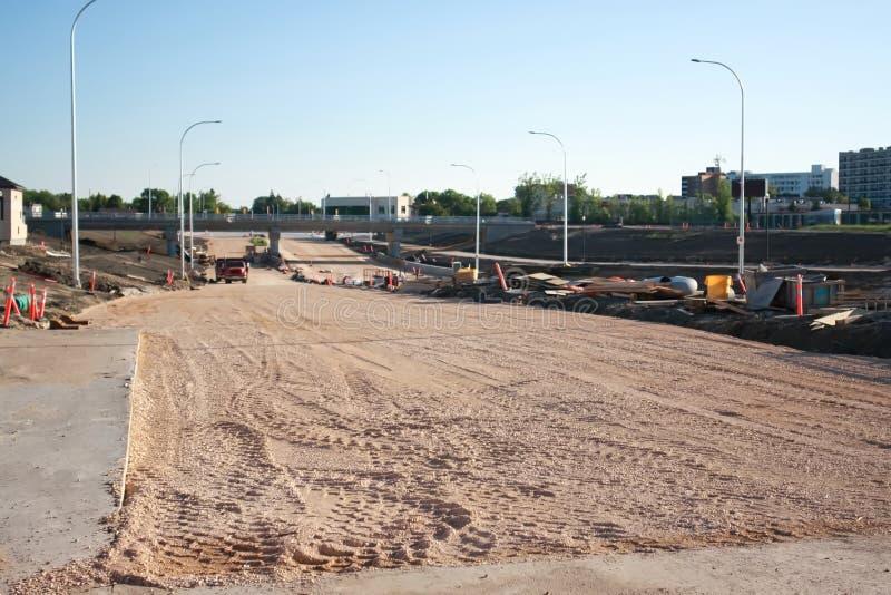 Waverley Street Underpass Construction June 2019. Winnipeg manitoba  canada. Looking  north  on waverley street stock image