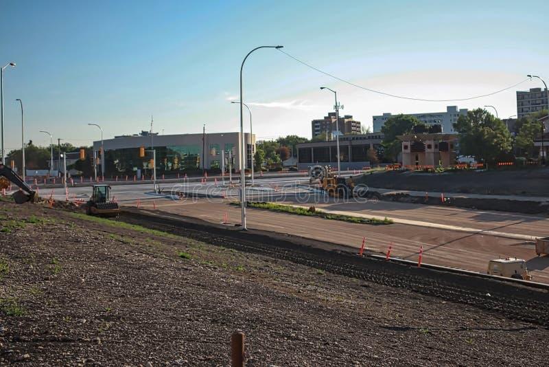 Waverley Street Underpass Construction June 2019. Winnipeg manitoba  canada.  Looking north west royalty free stock photo