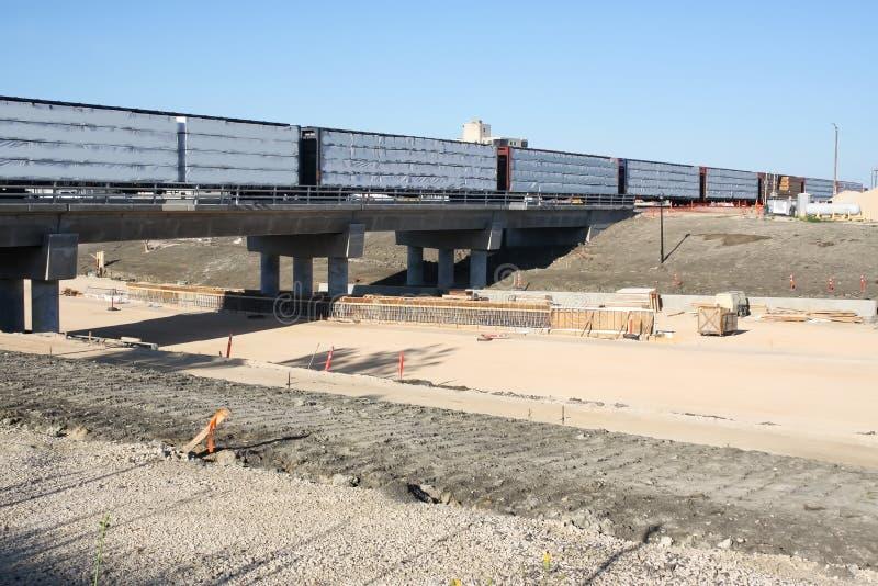 Waverley Street Underpass Construction June 2019. Winnipeg manitoba  canada. Looking south west at the rail bridge royalty free stock photos