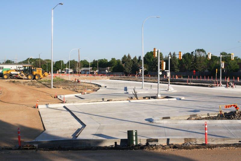 Waverley Street Underpass Construction June 2019. Winnipeg manitoba canada.Looking west waverley street road works in process royalty free stock photography