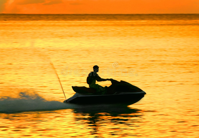 waverunner d'homme photographie stock