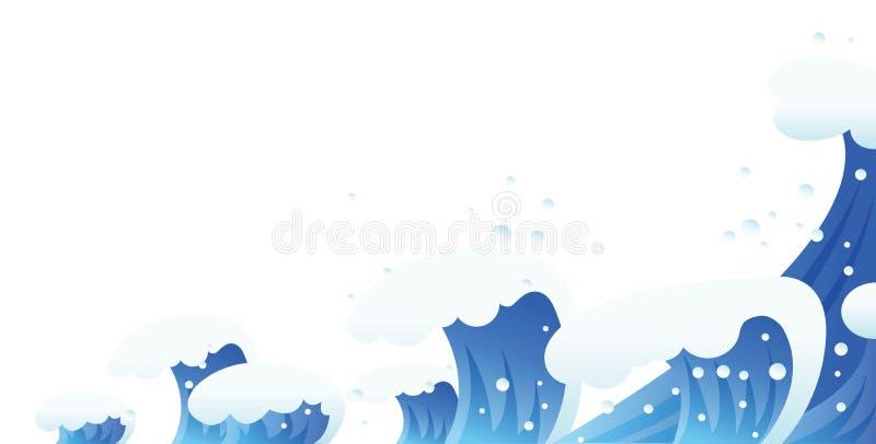 Waves stock illustration
