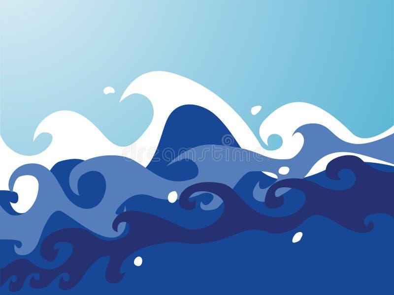 Waves royalty free illustration