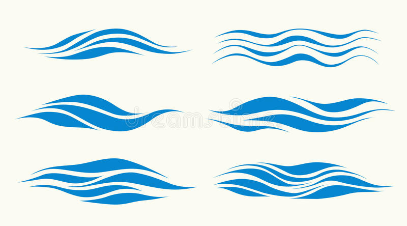 waves vector illustration