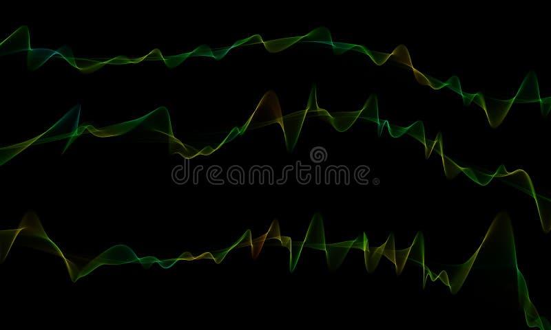 Waves Abstraktes, schönes Wellenhintergrunddesign Elegant, künstlerisch stock abbildung