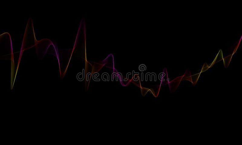 Waves Abstraktes, schönes Wellenhintergrunddesign Elegant, künstlerisch vektor abbildung