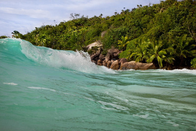 Download Waves At Anse Lazio Seychelles Stock Image - Image of idyllic, blue: 39503597