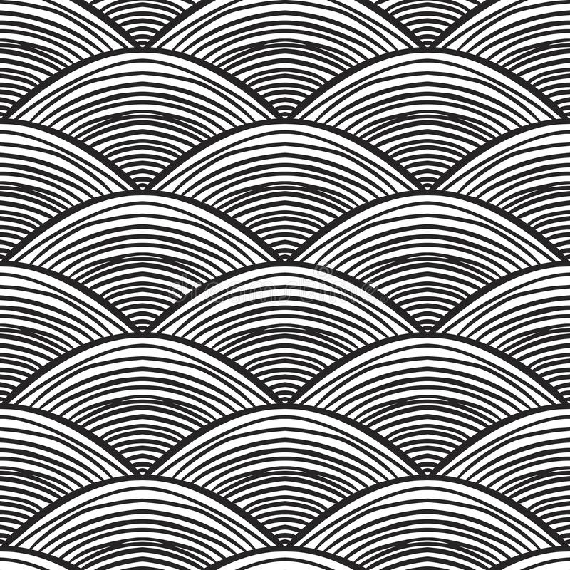 Waves background, abstract seamless pattern. stock illustration