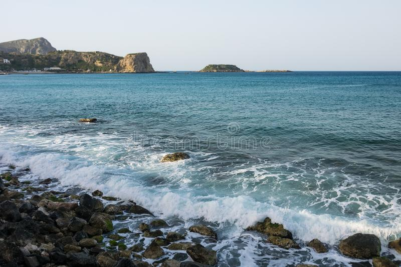 Waves in a bay of the Sea stock image