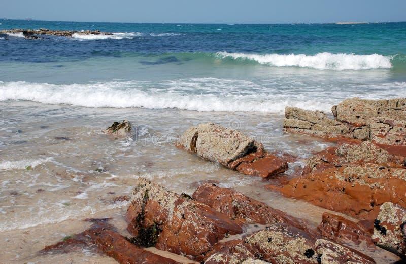 Waves beach bleu sky royalty free stock photography