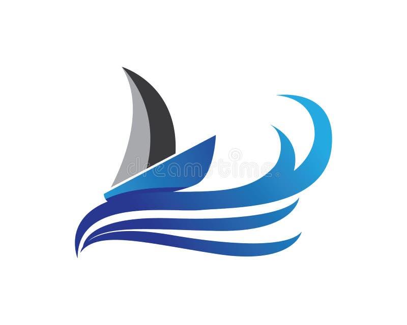 Waves beach logo and symbol stock illustration