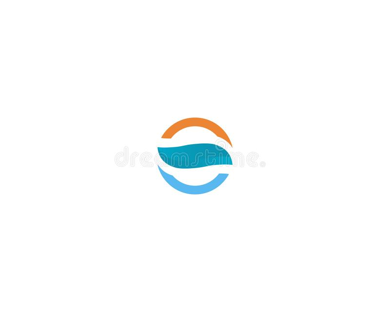 Waves beach logo and symbols template icons app. Waves beach logo symbols template icons app vector illustration