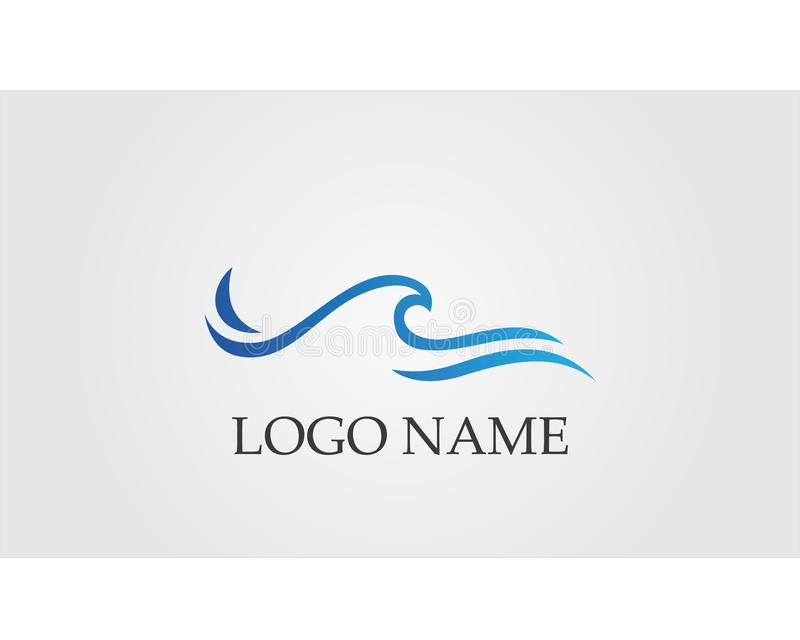 Waves beach logo and symbols template icons app stock illustration