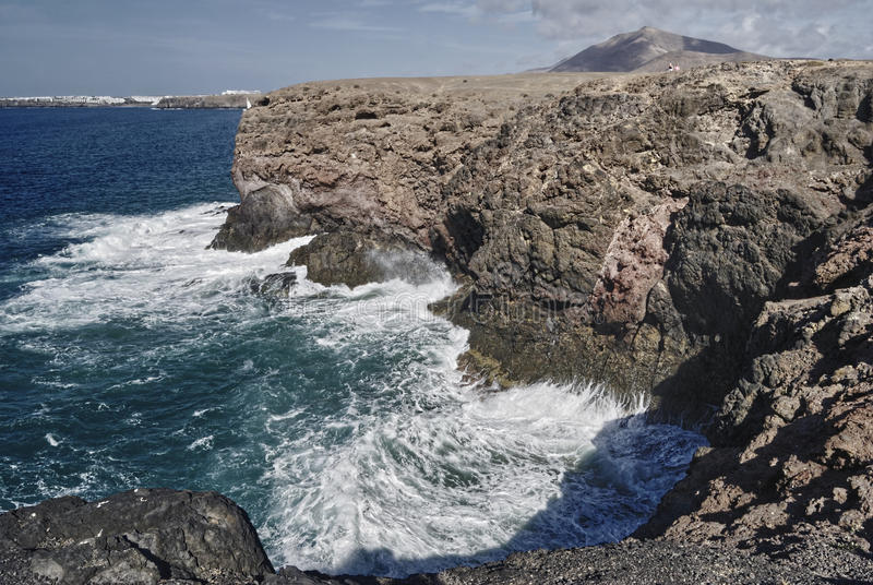 Download Waves breaking on cliffs stock photo. Image of rough - 12903266