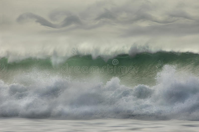 Download Waves Breaking On The Shore. Stock Image - Image: 12492963