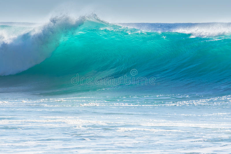 Waves breaking on the shore of Madeira stock photos