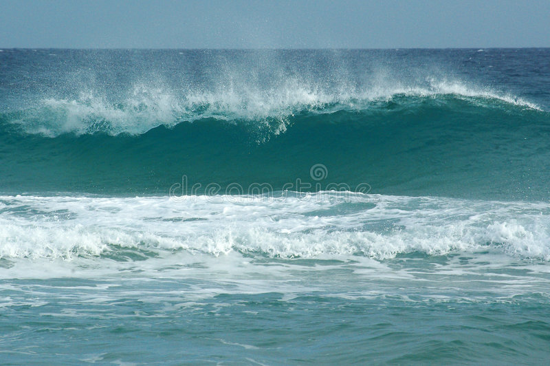 Waves at Chia Beach stock photography