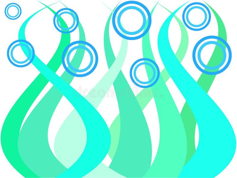 Waves and circles stock illustration