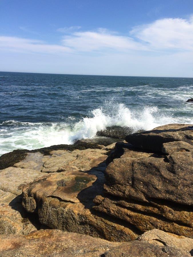 Waves crashing stock image