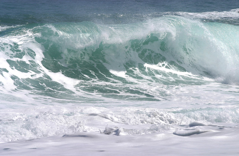 waves för green ii arkivfoto