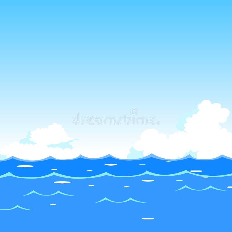 waves för vektor för bakgrundsillustrationhav stock illustrationer