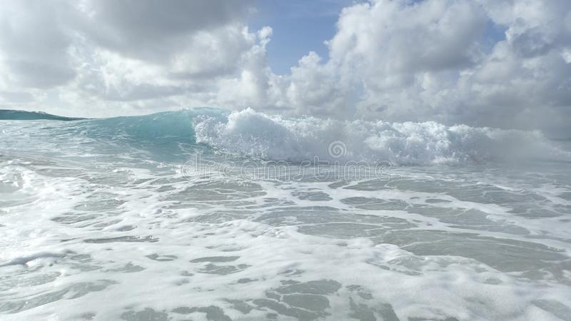 Waves in Florida on the Atlantic coast on a stormy morning stock photo