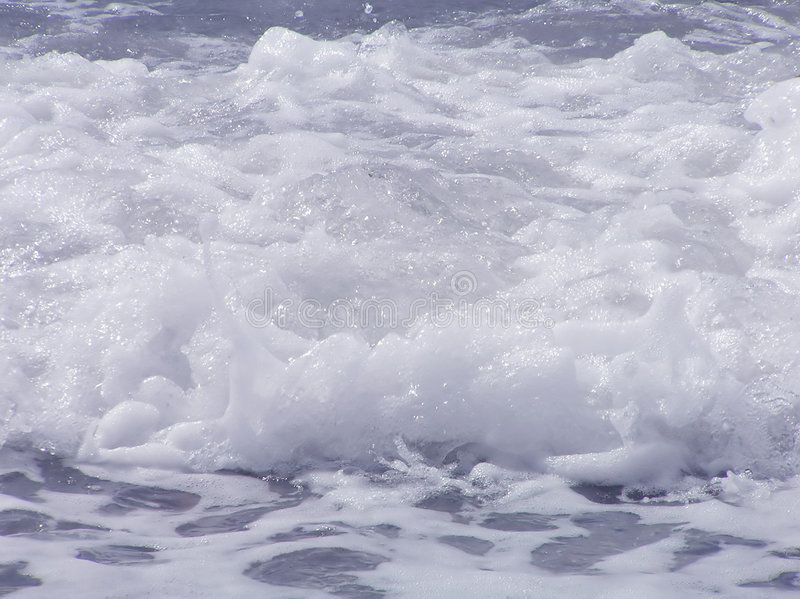 Waves with foam royalty free stock photography