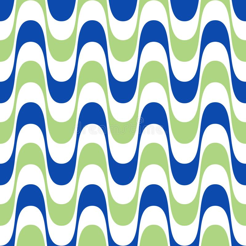 Waves geometric seamless pattern. Simple wavy zigzag stripes royalty free illustration