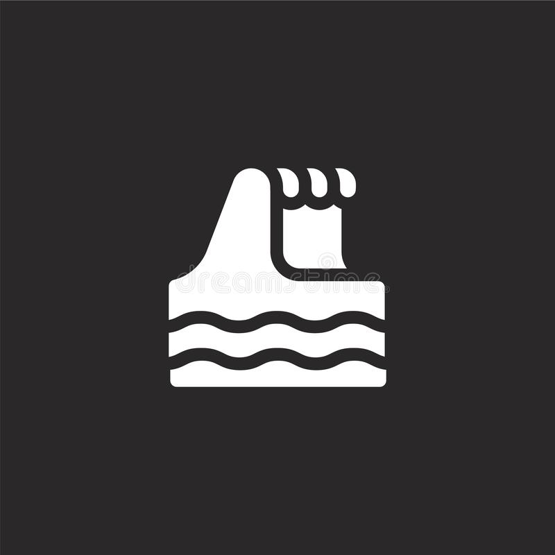 waves icon. Filled waves icon for website design and mobile, app development. waves icon from filled portugal collection isolated vector illustration