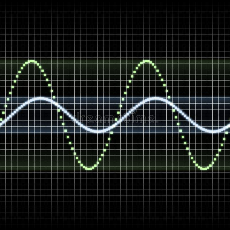 Download Waves measuring display stock illustration. Illustration of signal - 10048122