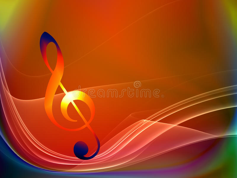 Waves of Music royalty free illustration