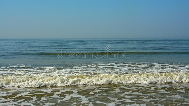 Waves of the north sea stock photography