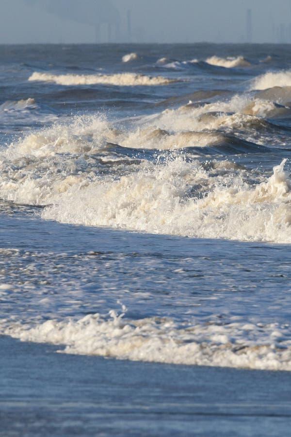 Waves at North Sea royalty free stock image