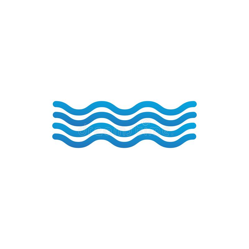 Waves outline icon, modern minimal flat design style. Wave thin line symbol, Vector illustration isolated on white background. Waves outline icon, modern minimal vector illustration