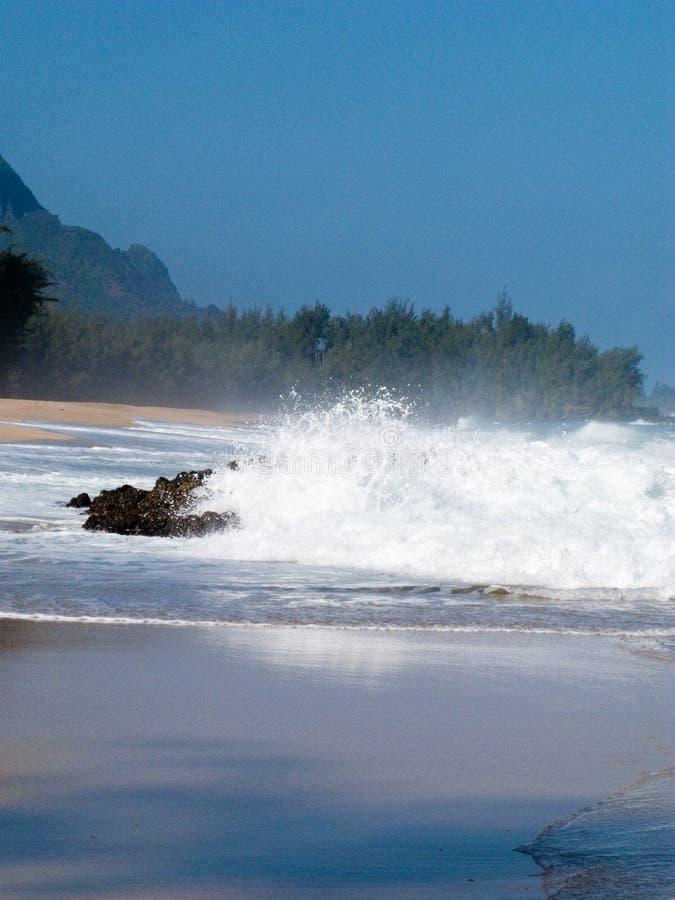 Download Waves Over Rocks On Lumahai Stock Photo - Image: 12849636