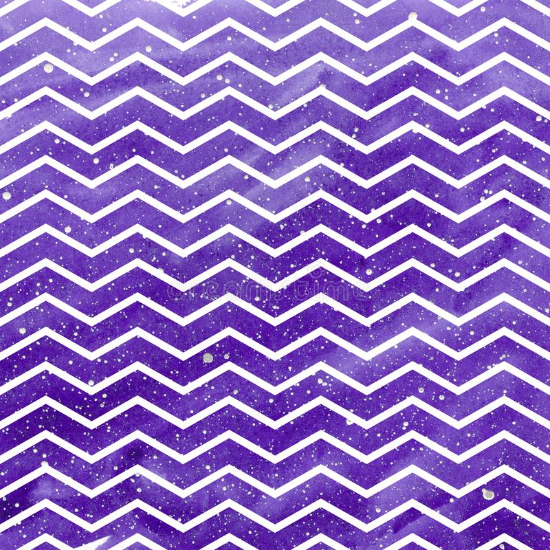Waves pattern on space texture, abstract background. Geometrical simple illustration stock illustration