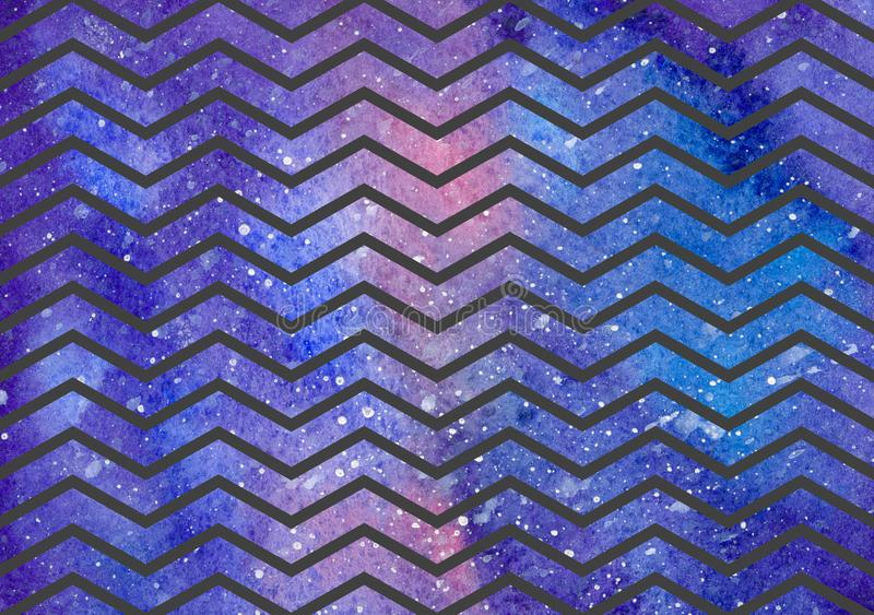Waves pattern on space texture, abstract background. Geometrical simple illustration vector illustration