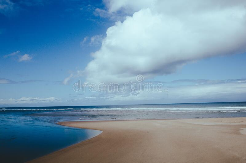 Coastline on the beach stock images